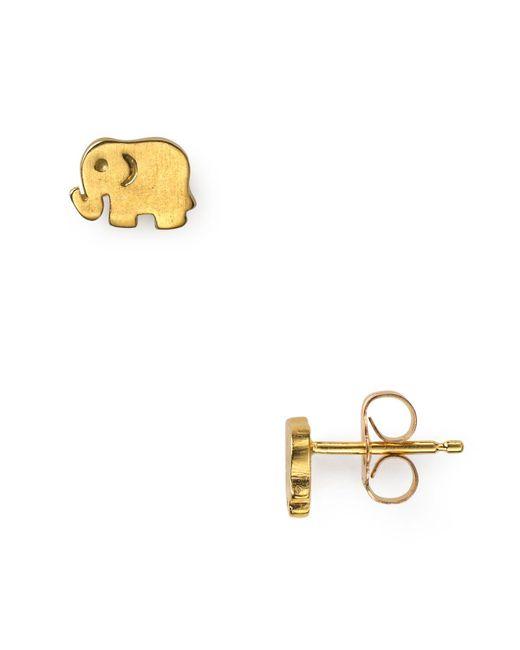 Dogeared | Metallic Little Elephant Stud Earrings | Lyst
