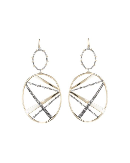 Alexis Bittar - Metallic Crystal Encrusted Large Plaid Drop Earring You Might Also Like - Lyst