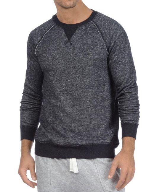 2xist - Gray 2(x)ist Terry Crewneck Sweatshirt for Men - Lyst