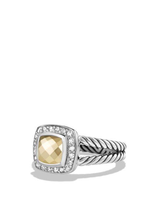 David Yurman - Metallic Petite Albion Ring With 18k Gold Dome And Diamonds - Lyst