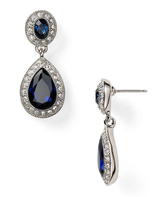 Carolee | Metallic Pave Stone Double Drop Earrings | Lyst