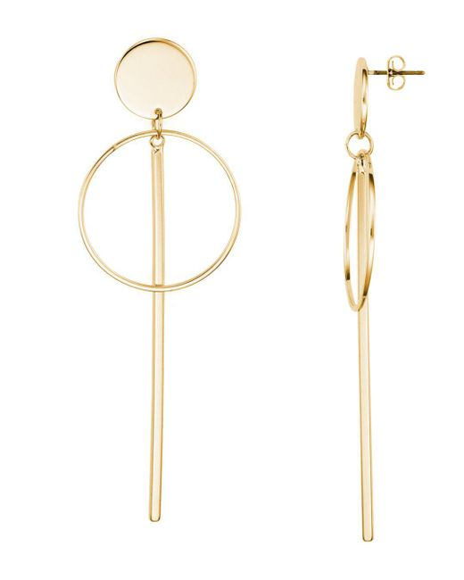 Argento Vivo - Metallic Circle And Bar Drop Earrings - Lyst