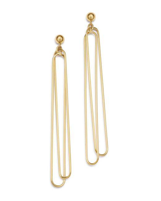 Bloomingdale's - Metallic Doubled Oval Wire Drop Earrings In 14k Yellow Gold - Lyst