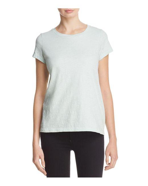 Eileen fisher organic cotton crewneck tee lyst for Eileen fisher organic cotton t shirt
