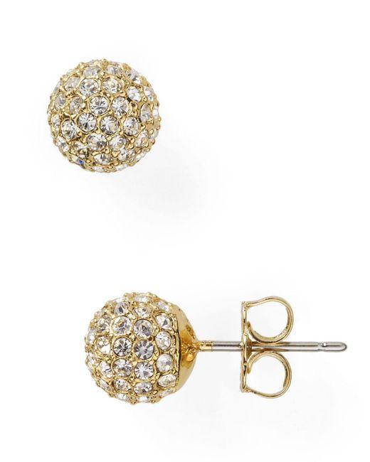 Nadri | Metallic Small Crystal Ball Earrings | Lyst