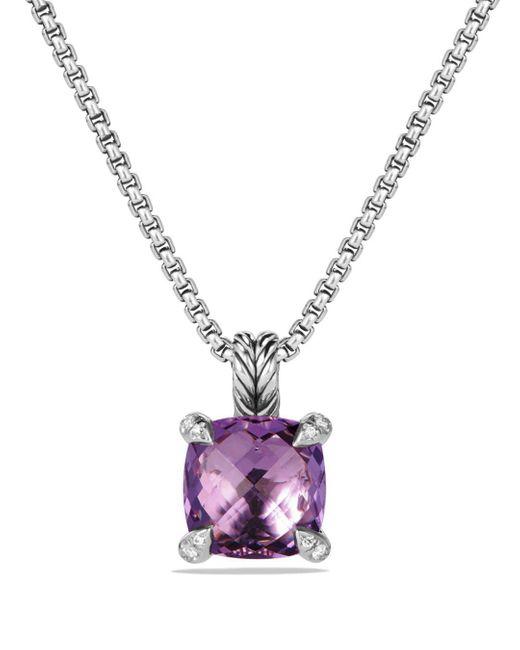 David Yurman - Metallic Châtelaine Pendant Necklace With Amethyst And Diamonds - Lyst