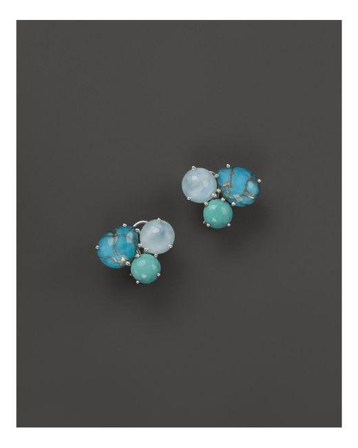 Ippolita - Sterling Silver Rock Candy® Cluster Stud Earrings In Blue Multi - Lyst