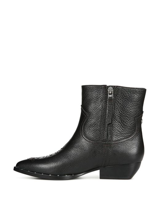 Ava Leather Western Booties JeY9QX