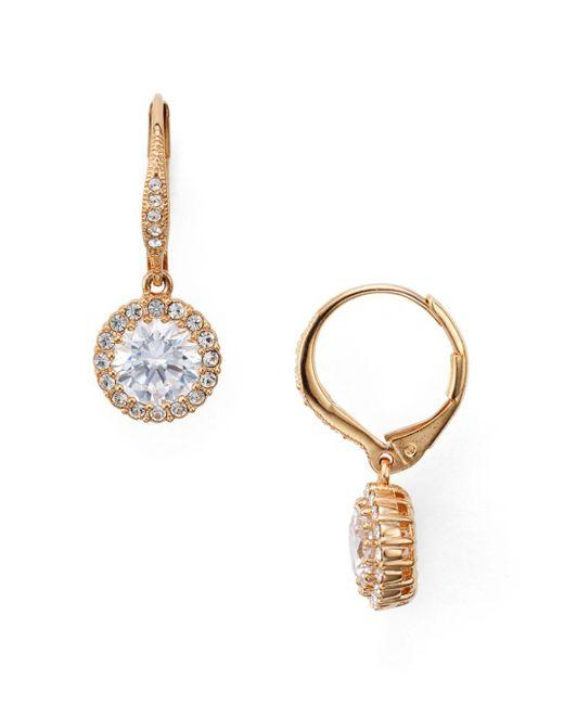 Nadri - Metallic Solitaire Drop Earrings - Lyst