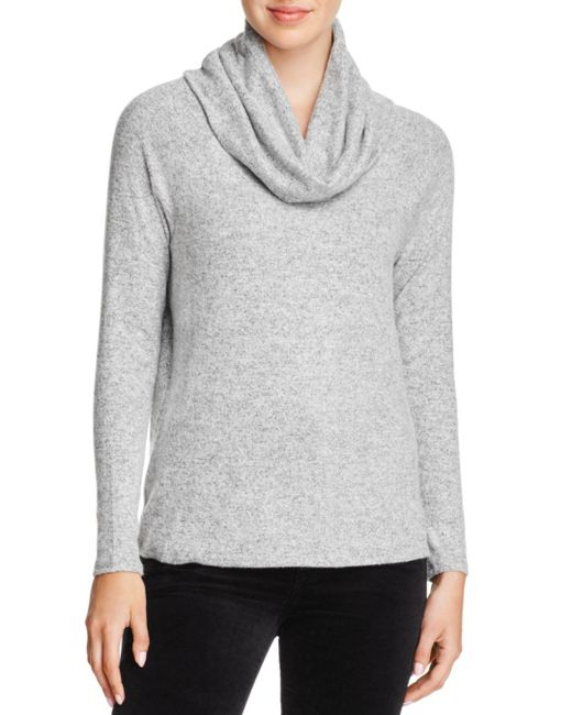 Joie - Gray Soft Cappella Cowl-neck Sweater - Lyst