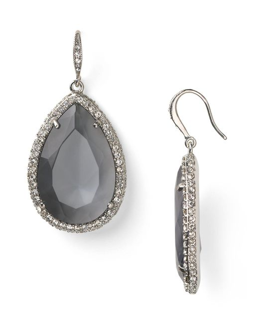 ABS By Allen Schwartz | Metallic Stone Drop Earrings | Lyst