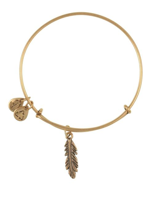 ALEX AND ANI | Metallic Feather Bangle | Lyst