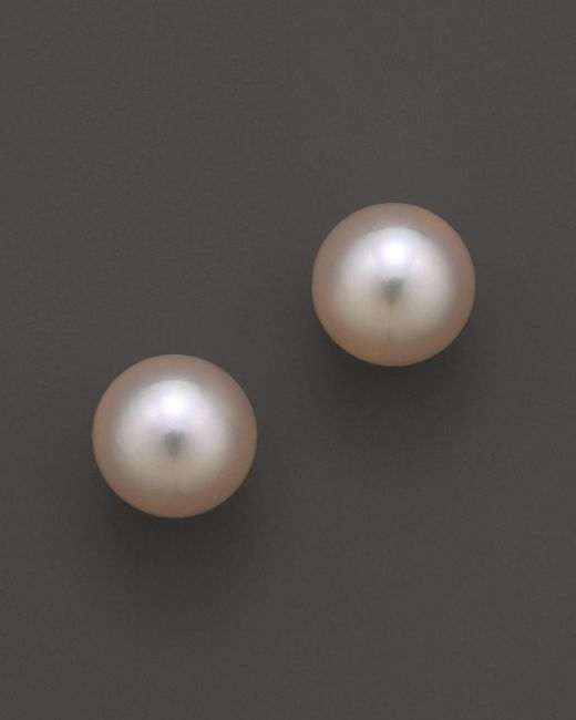 Tara Pearls | Metallic Akoya Cultured Pearl Stud Earrings, 8mm | Lyst
