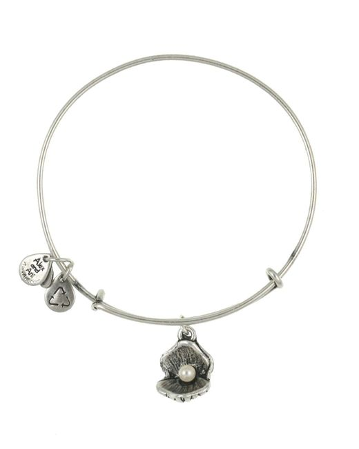 ALEX AND ANI | Metallic Oyster And Pearl Bangle | Lyst