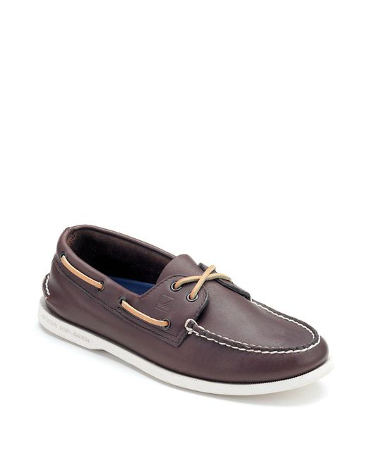 Sperry Top-Sider | Brown Men's Authentic Original Two Eye Leather Boat Shoes for Men | Lyst
