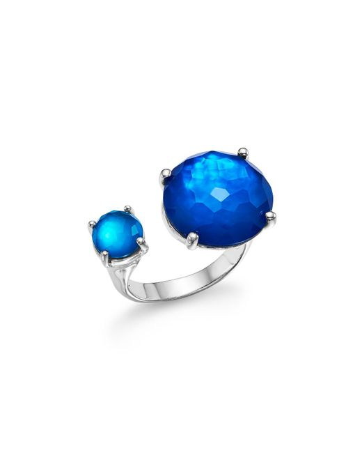 Ippolita - Metallic Sterling Silver Rock Candy® Wonderland Duo Stone Open Ring In Island - Lyst