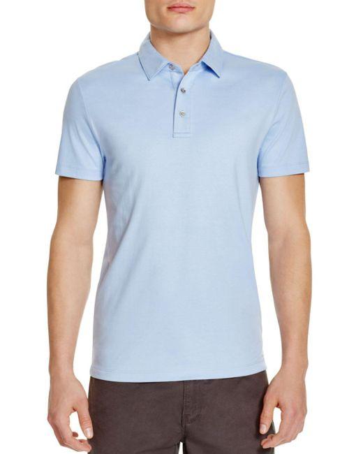 Michael Kors - Blue Sleek Slim Fit Polo Shirt for Men - Lyst