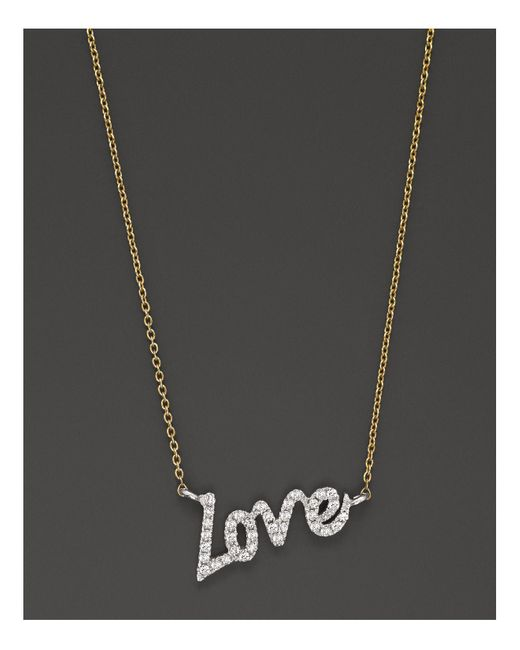Meira T   Metallic Diamond Love Necklace, .11 Ct. T.w.   Lyst