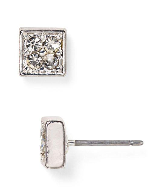 Ralph Lauren   Metallic Lauren Square Stud Earrings   Lyst