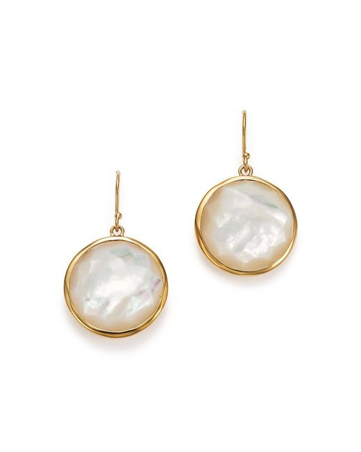 Ippolita | Metallic 18k Yellow Gold Large Lollipop Earrings In Mother-of-pearl | Lyst