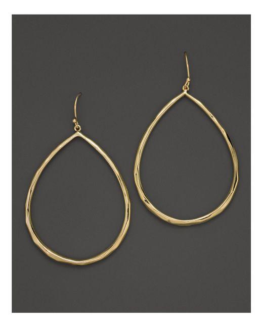 Ippolita   Metallic 18k Yellow Gold Glamazon Faceted Large Teardrop Earrings   Lyst