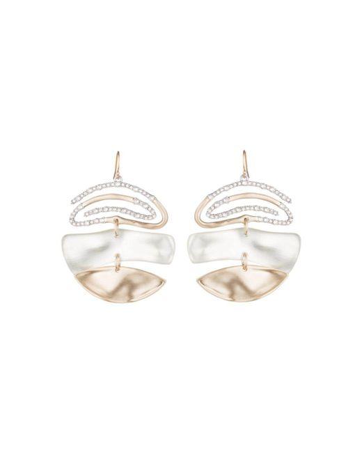 Alexis Bittar - White Pavé Spiral Drop Earrings - Lyst