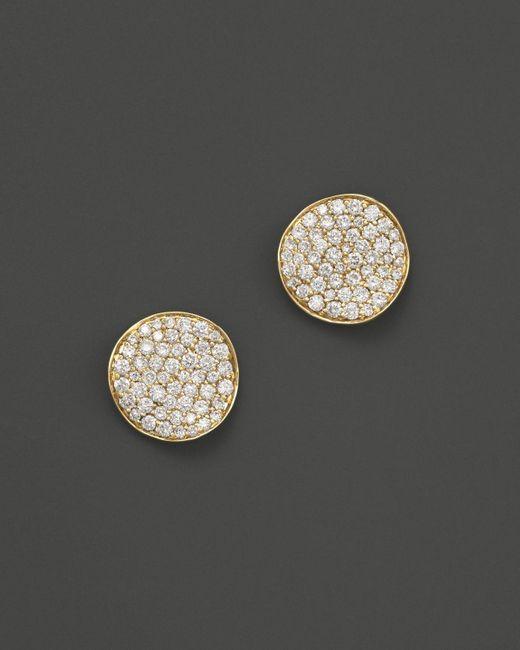 Ippolita | Metallic 18k Gold Stardust Mini Studs With Diamonds | Lyst