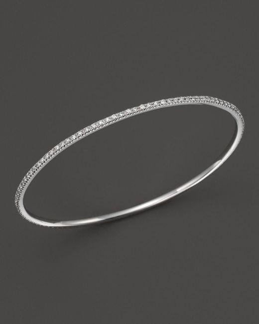 KC Designs - Diamond Bangle In 14k White Gold - Lyst