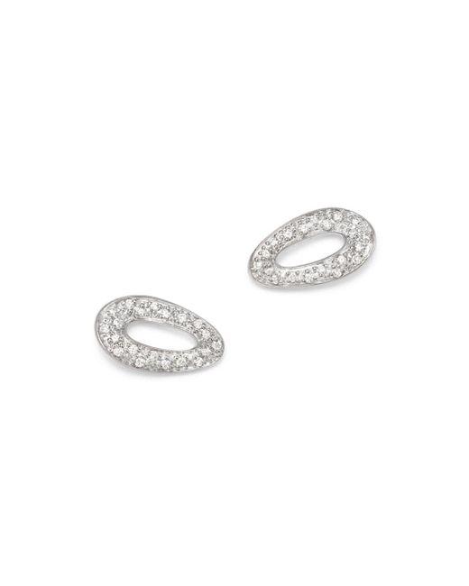 Ippolita - Metallic Sterling Silver Cherish Diamond Stud Earrings - Lyst