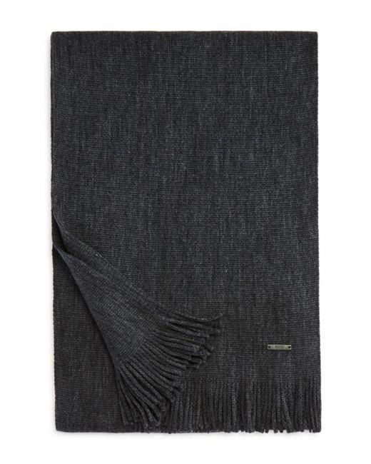 HUGO - Gray Albas Waffle-knit Scarf for Men - Lyst