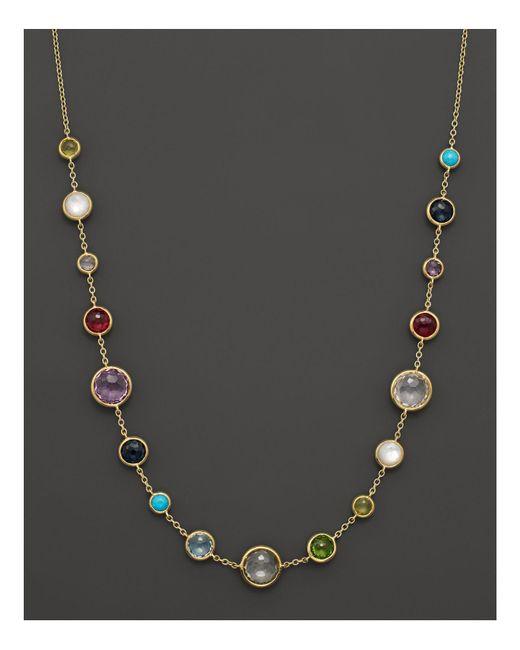 "Ippolita   Metallic 18k Gold Rock Candy Lollitini Short Necklace, 16""   Lyst"
