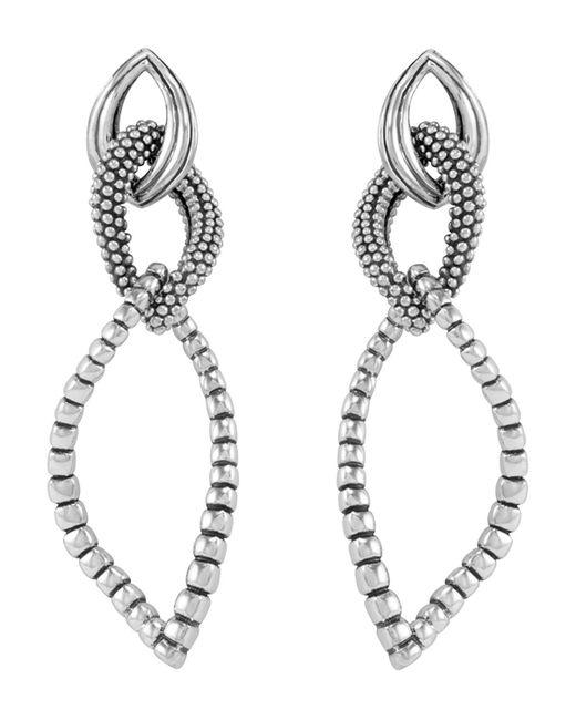 Lagos | Metallic Sterling Silver Fluted Caviar Bead Dangle Earrings | Lyst