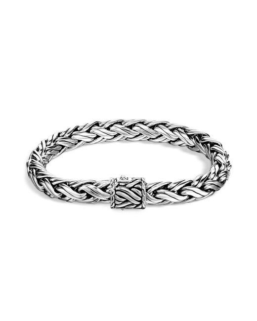 John Hardy | Metallic Men's Classic Chain Sterling Silver Medium Woven Bracelet for Men | Lyst