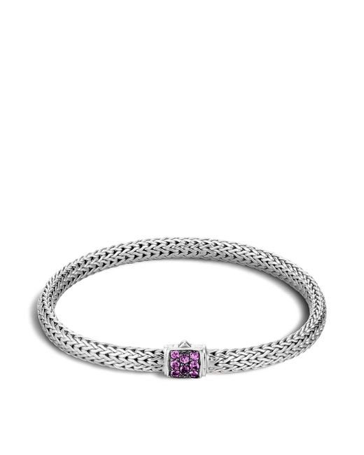 John Hardy | Metallic Classic Chain Sterling Silver Lava Extra Small Bracelet With Amethyst | Lyst