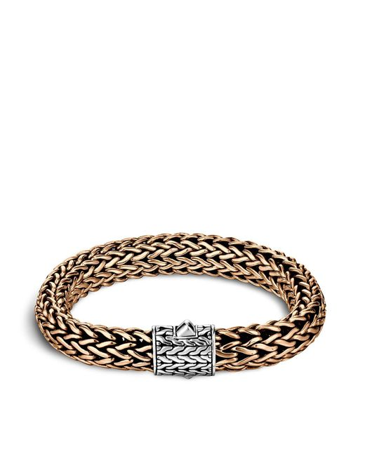 John Hardy | Metallic Men's Classic Chain Silver And Bronze Large Chain Bracelet for Men | Lyst
