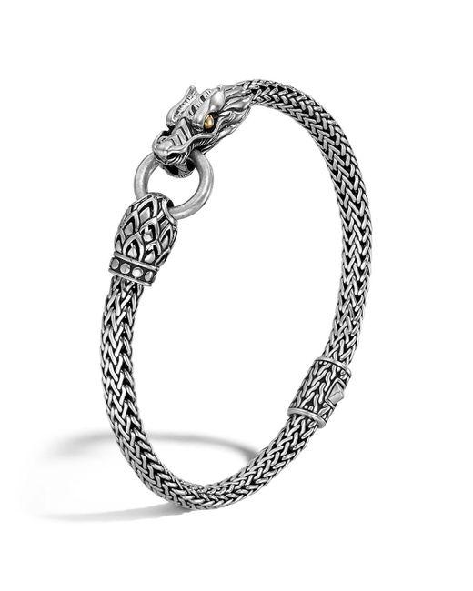John Hardy | Metallic Naga Gold And Silver Dragon Station Chain Bracelet | Lyst
