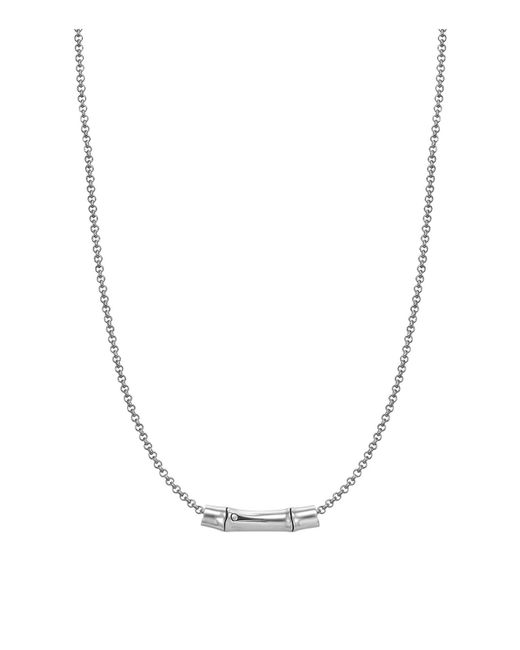 John Hardy | Metallic Bamboo Silver Slider Pendant On Chain Necklace | Lyst