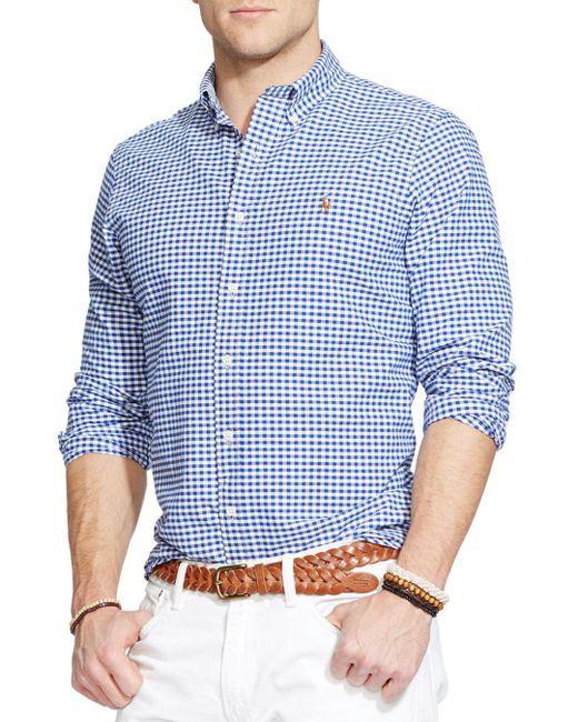 Polo Ralph Lauren - Blue Multi-striped Oxford Shirt for Men - Lyst