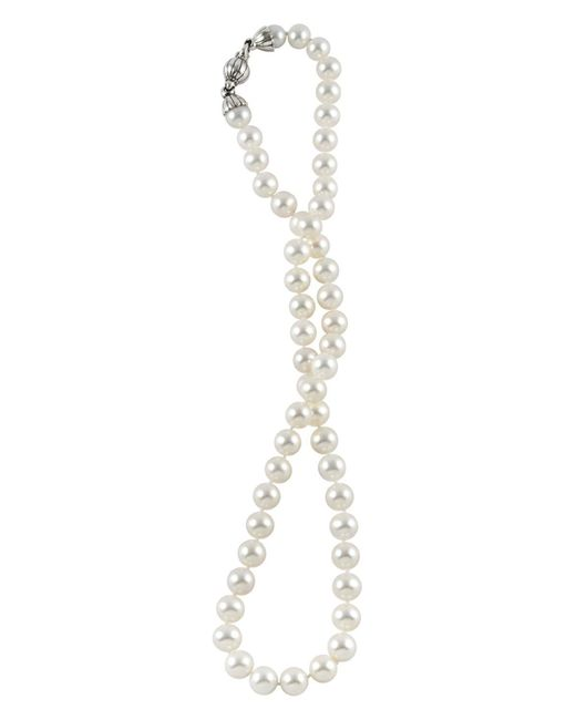 Lagos | Metallic Sterling Silver Luna Pearl Necklace, 18"