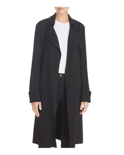Theory - Black Oaklane Trench Coat - Lyst
