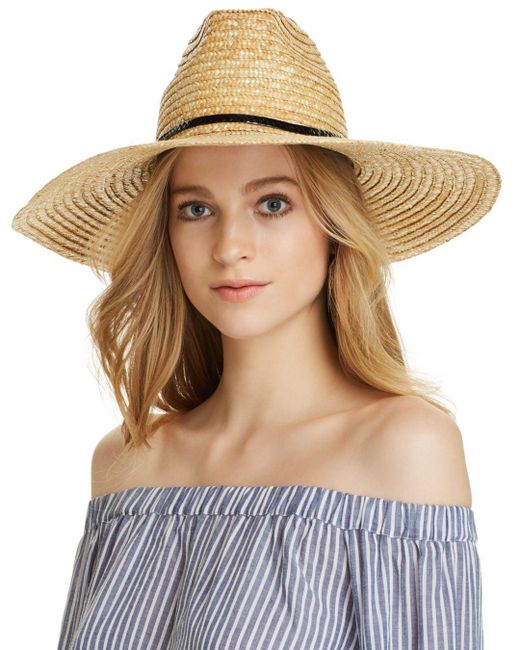 Aqua - Natural Braided Straw Sun Hat - Lyst