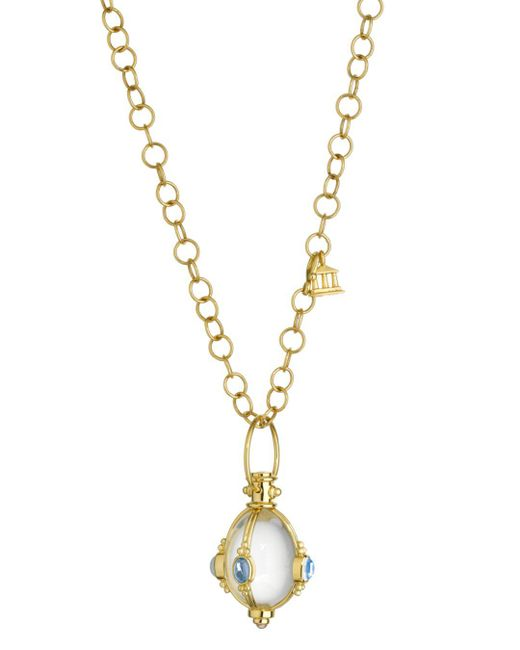 Temple St. Clair - Blue Temple St. Clair Classic Moonstone & Rock Crystal Amulet - Lyst
