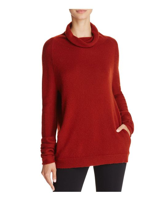 Theory | Red Norman B Funnel Neck Cashmere Sweater | Lyst