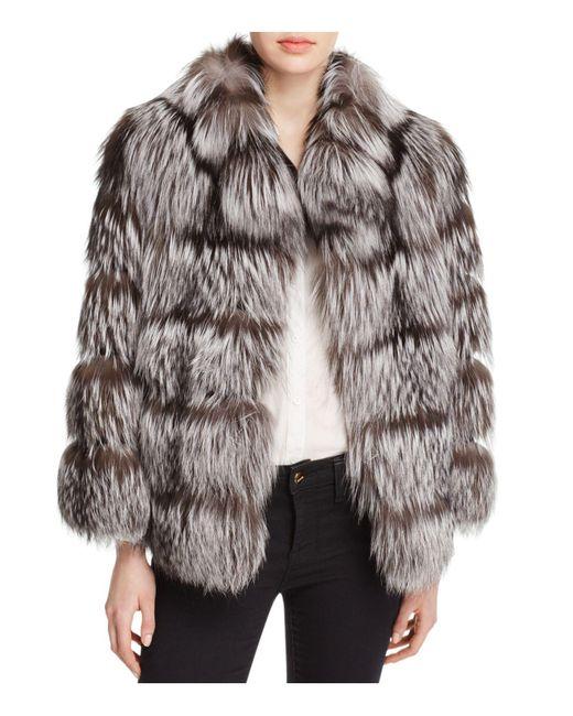Maximilian | Metallic Nafa Fox Fur Jacket | Lyst