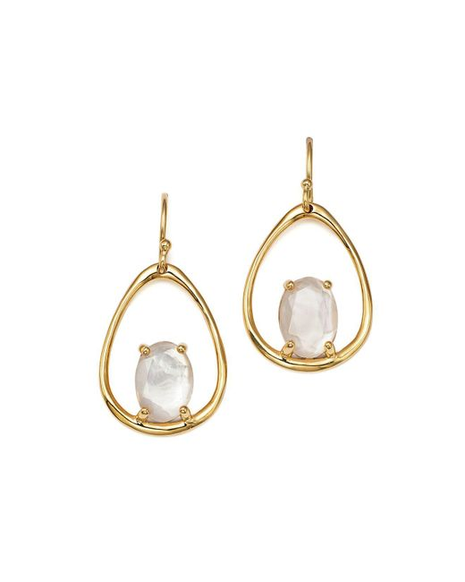 Ippolita | Metallic 18k Yellow Gold Rock Candy Small Suspension Earrings In Mother-of-pearl Doublet | Lyst