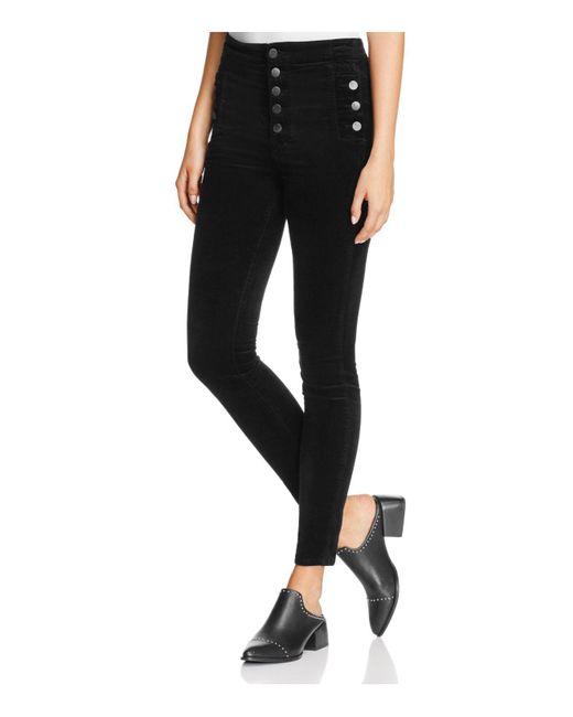 J Brand | Natasha Sky-high Skinny Jeans In Black | Lyst
