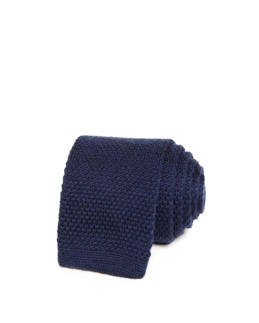 Bloomingdale's - Blue Solid Knit Skinny Tie for Men - Lyst