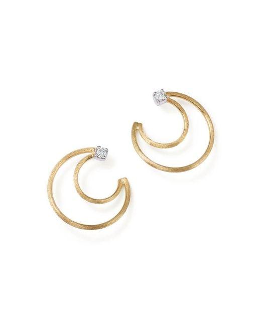 Marco Bicego - Metallic 18k Yellow Gold Luce Diamond Crescent Stud Earrings - Lyst