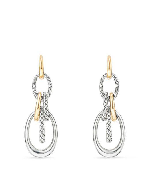 David Yurman - Metallic Pure Form Drop Earrings With 18k Gold - Lyst