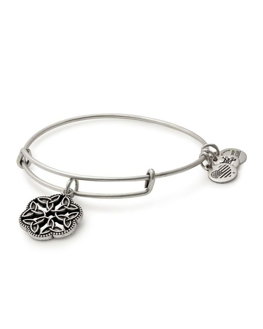 ALEX AND ANI   Metallic Endless Knot Expandable Wire Bangle   Lyst